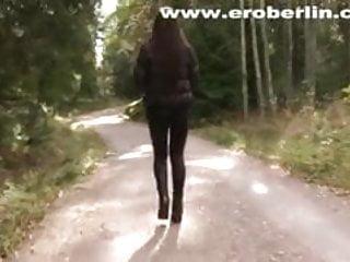 Long leg fetish - Eroberlin leggings fetish long hair lange haare teen walking