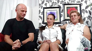 German Mature Couple – First Cuckold Threesome with Stranger