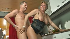 Mature German couple fuck and shower each other