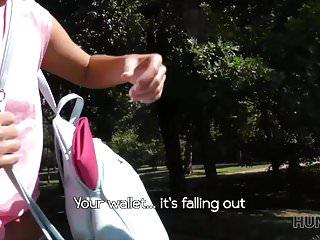 Breast pocket wallet - Hunt4k. she almost lost her wallet but found crazy sex