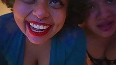 Two BBW Latinas laugh at my small penis SPH