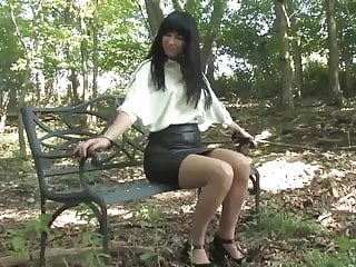 Lesbians handcuffed to bed Handcuffed to a bench outdoors and pees