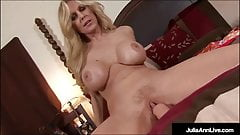 Big Titty Mommy Julia Ann Bangs Her Trimmed Snatch To Orgasm