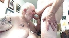 Big sexy hairy papa bear sucking dick