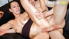 AMATEUR EURO French MILF Audrey Choupa Tries Anal With Josh