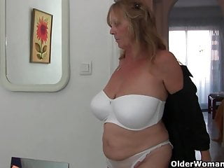 Shirt ripped off breasts exposed Grandma with big breasts rips open her pantyhose