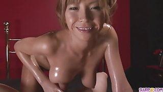 Oiled Up Teen Sumire Matsu Sucks Di - More at Slurpjp.com