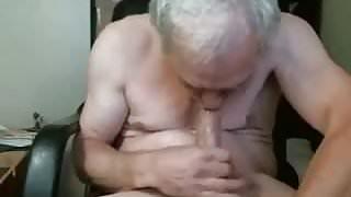 Grandpa sucks himself