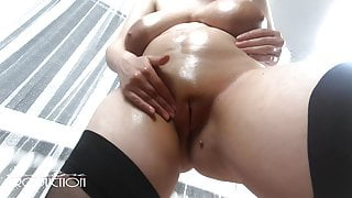 Lena Stripping and showing her body