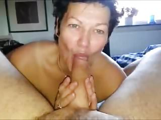 Cock suck large She is enjoying sucking on a large one