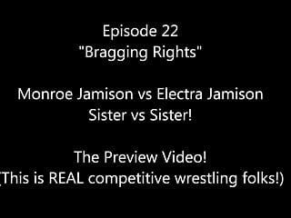 Real sex 22 - 22 bragging rights monroe vs electra real female wrestling