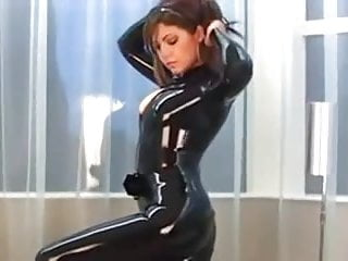 Black sexy models pics Brunette modelling super sexy black latex