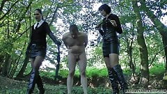 CZ Madame Sarka whipping cock and ball torture crying