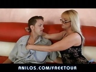 Busty mature glasses doggy videos - Busty milf in glasses fucks stud