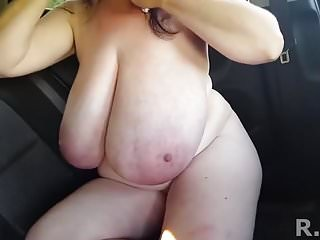 G size boobs - Super-sized boobs hanging loose at play