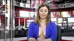 Zjarr TV - Big Titted Newsreader Greta Hoxha