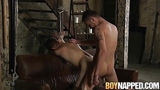 Submissive Aiden Jason wax tormented by dominant Adam Watson
