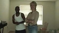 husband films wife visiting a young black guy