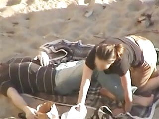 Nude bbw redheads Nude beach - hot redhead blowjob filmed by voyeur