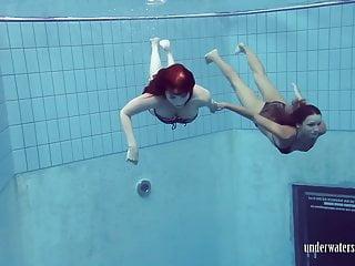 Underwater no bikini Katrin privsem and lucy gurchenko underwater babes
