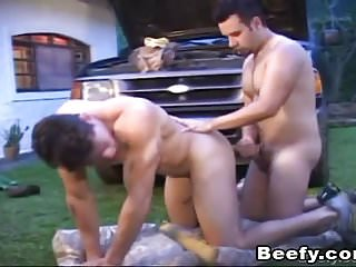 Extreme gay trucker - Extreme beefy gay action barebacked fucked
