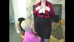 Hot Lesbian Granny first time