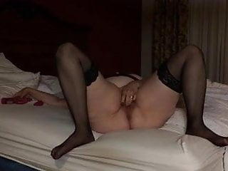 Chubby shemale solo Hot chubby mature rabbit solo on bed has screaming orgasms