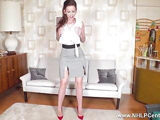 Porn nylons and garter - Brunette milf strips off masturbates in nylons garters heels