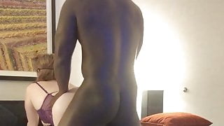 Blindfolded wife with BBC