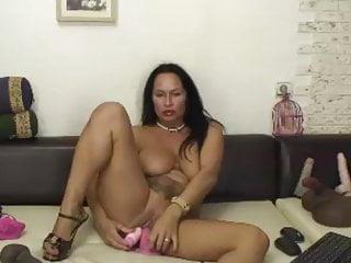 Free hot horny milfs - Hot, horny 50 year old latina milf rides dildo part 2