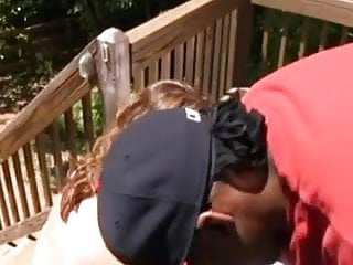 Mature woman facials Fuck mature woman with a black man on porch