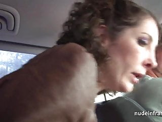 Masturbation in overalls Mature analized by the taxi driver after masturbation in car