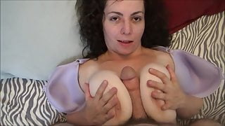 Fucking Step Mom's Huge Saggy Tits