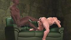 3D Interracial Fucking (flip flop)