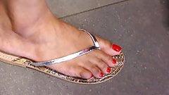indian candid feet