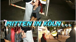 Public City Fuck ! German Girl and the Big Dick
