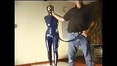 Hogtied for the fucking machine