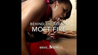 Behind the scenes with Moet fire