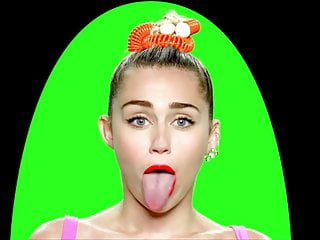 Nude pictures miley cyrus Miley cyrus and her cock licking tongue
