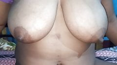Real desi beautiful bhabhi showing boobs and pussy