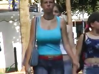 Fucking big boobs in the street - Love watching boobs in streets