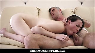 Mormon Teen Sister Fucked To Orgasm By Church President