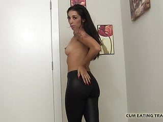 Watch me eat my own cum - It gets me so hot watching you eat your own cum cei
