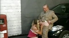 Teen In Pigtails Wants This Old Man's Cock