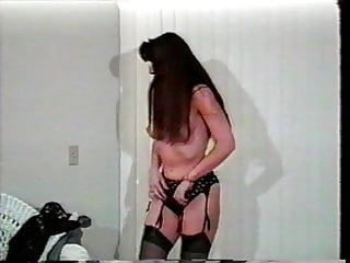 Hairy rodding - Slut in black outfit filled with fuck rod