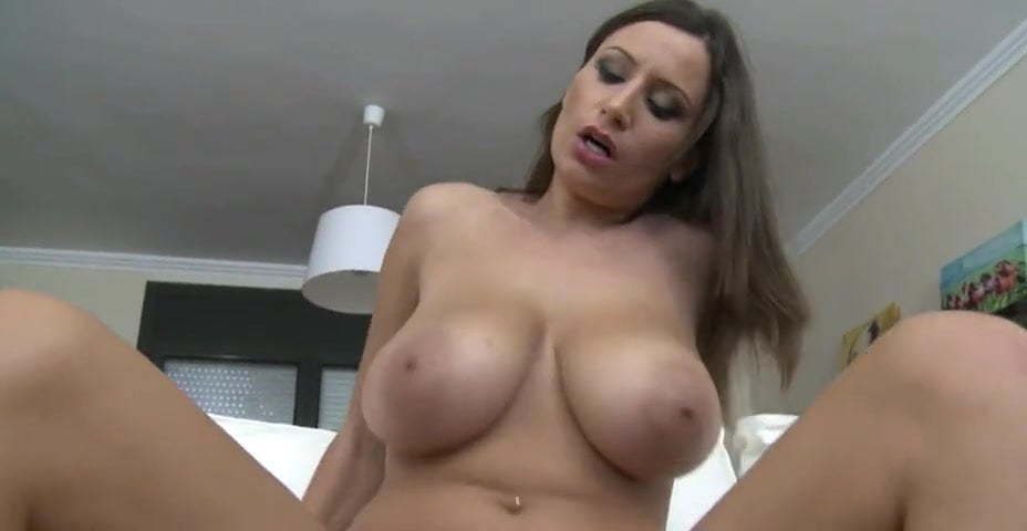Riding Dildo Bouncing Tits