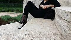 Shoeplay teasing