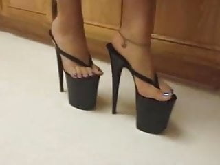 Women taking an 8 inch penis Sexy japanese lady wearing her 8 inch platform high heels