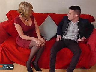 Fuck horny blonde girls slutload - Agedlove nice blonde granny is fucked by horny man
