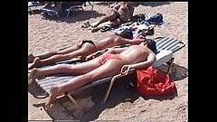 Hot girls on greek beach